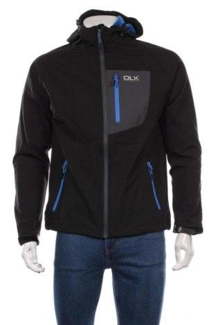 Мъжко спортно яке DLX by Trespass, Размер S, Цвят Черен, 95% полиестер, 5% еластан, Цена 58,56лв.