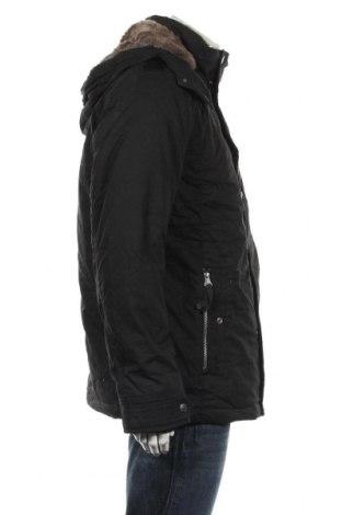 Мъжко яке Tom Tailor, Размер L, Цвят Черен, 75% памук, 25% полиамид, Цена 169,47лв.