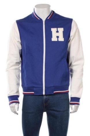 Pánská bunda  Tommy Hilfiger, Velikost M, Barva Modrá, 68% viskóza, 28% polyamide, 4% elastan, Cena  1690,00Kč