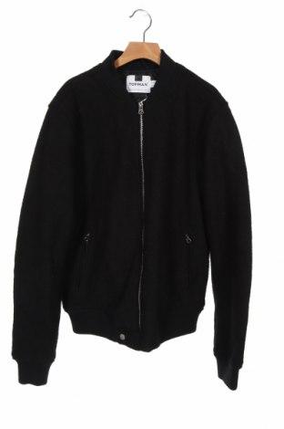 Мъжко яке Topman, Размер XS, Цвят Черен, 64% вискоза, 36% вълна, Цена 35,28лв.