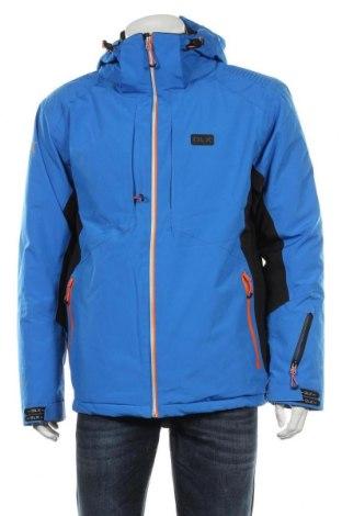 Geacă de bărbați pentru sport de iarnă DLX by Trespass, Mărime L, Culoare Albastru, Poliester, Preț 414,47 Lei