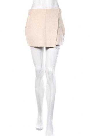 Пола - панталон Zara, Размер M, Цвят Бежов, Цена 24,00лв.