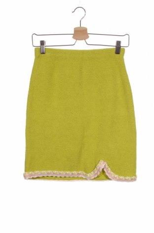 Пола Love Moschino, Размер XS, Цвят Зелен, 73% памук, 27% полиамид, Цена 126,75лв.