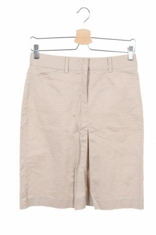 Пола Zara, Размер XS, Цвят Бежов, 98% памук, 2% еластан, Цена 25,50лв.