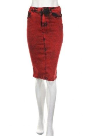 Пола Zara Trafaluc, Размер S, Цвят Червен, 76% памук, 22% полиестер, 2% еластан, Цена 26,25лв.