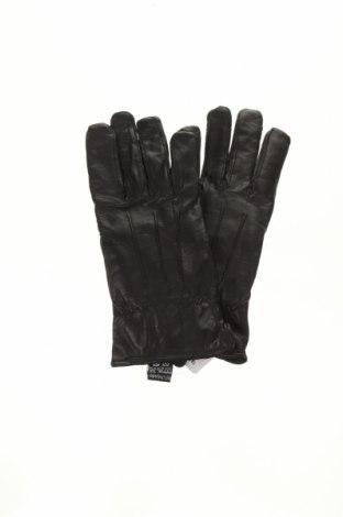 Ръкавици Atrium, Цвят Черен, Естествена кожа, Цена 37,80лв.