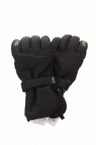 Ръкавици за зимни спортове DLX by Trespass, Цвят Черен, Полиестер, естествена кожа, Цена 43,50лв.