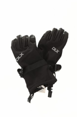 Ръкавици за зимни спортове DLX by Trespass, Цвят Черен, Полиестер, еластан, естествена кожа, Цена 43,50лв.
