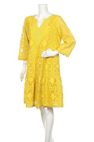 Šaty  Hallhuber, Velikost L, Barva Žlutá, 70% bavlna, 30% polyamide, Cena  1020,00Kč