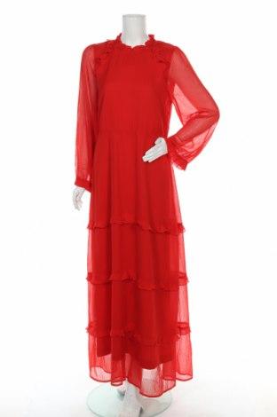 Šaty  Vero Moda, Velikost L, Barva Červená, Polyester, Cena  462,00Kč