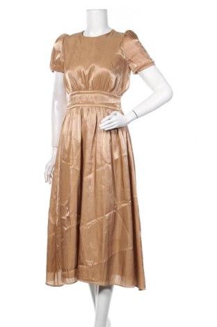 Sukienka Zara, Rozmiar XS, Kolor Beżowy, 100% poliester, Cena 110,40zł