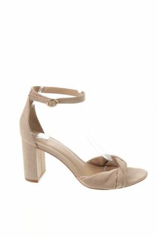 Σανδάλια H&M, Μέγεθος 39, Χρώμα  Μπέζ, Κλωστοϋφαντουργικά προϊόντα, Τιμή 14,84€