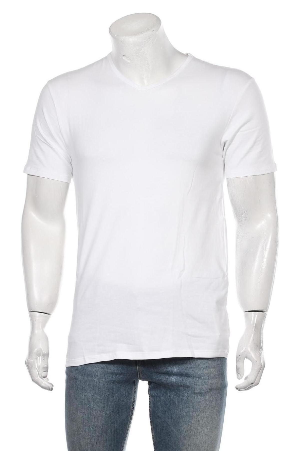Мъжка тениска Dim, Размер M, Цвят Бял, 95% памук, 5% еластан, Цена 20,30лв.