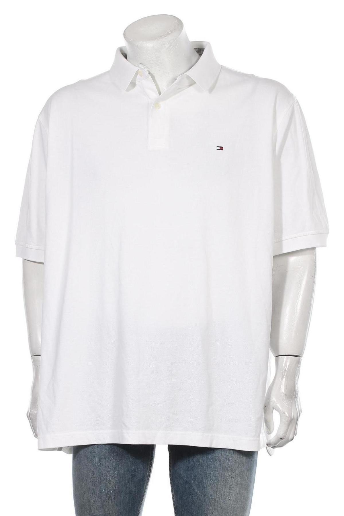 Мъжка тениска Tommy Hilfiger, Размер 3XL, Цвят Бял, Памук, Цена 55,50лв.