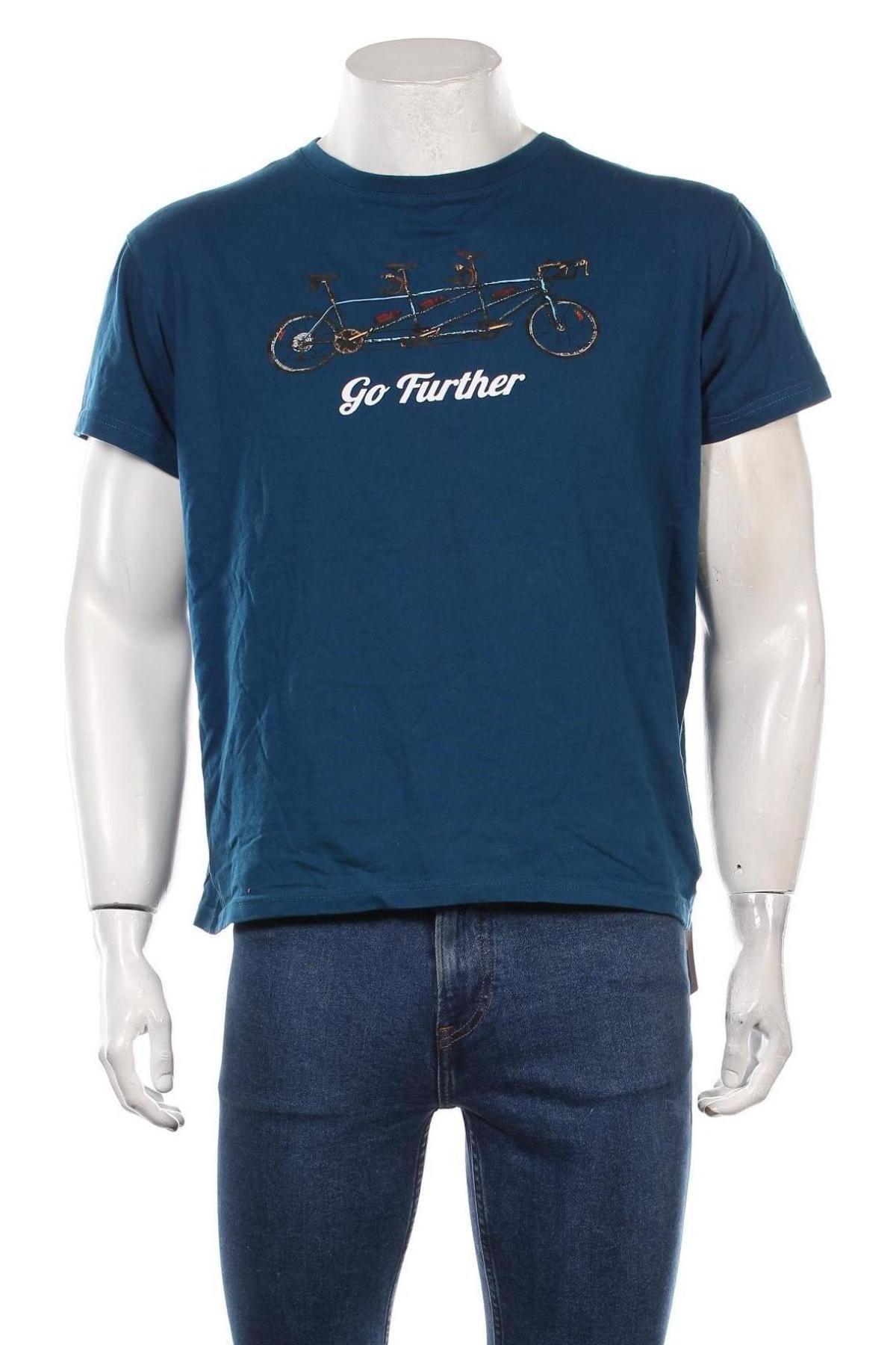 Мъжка тениска Trespass, Размер M, Цвят Син, Памук, Цена 20,88лв.