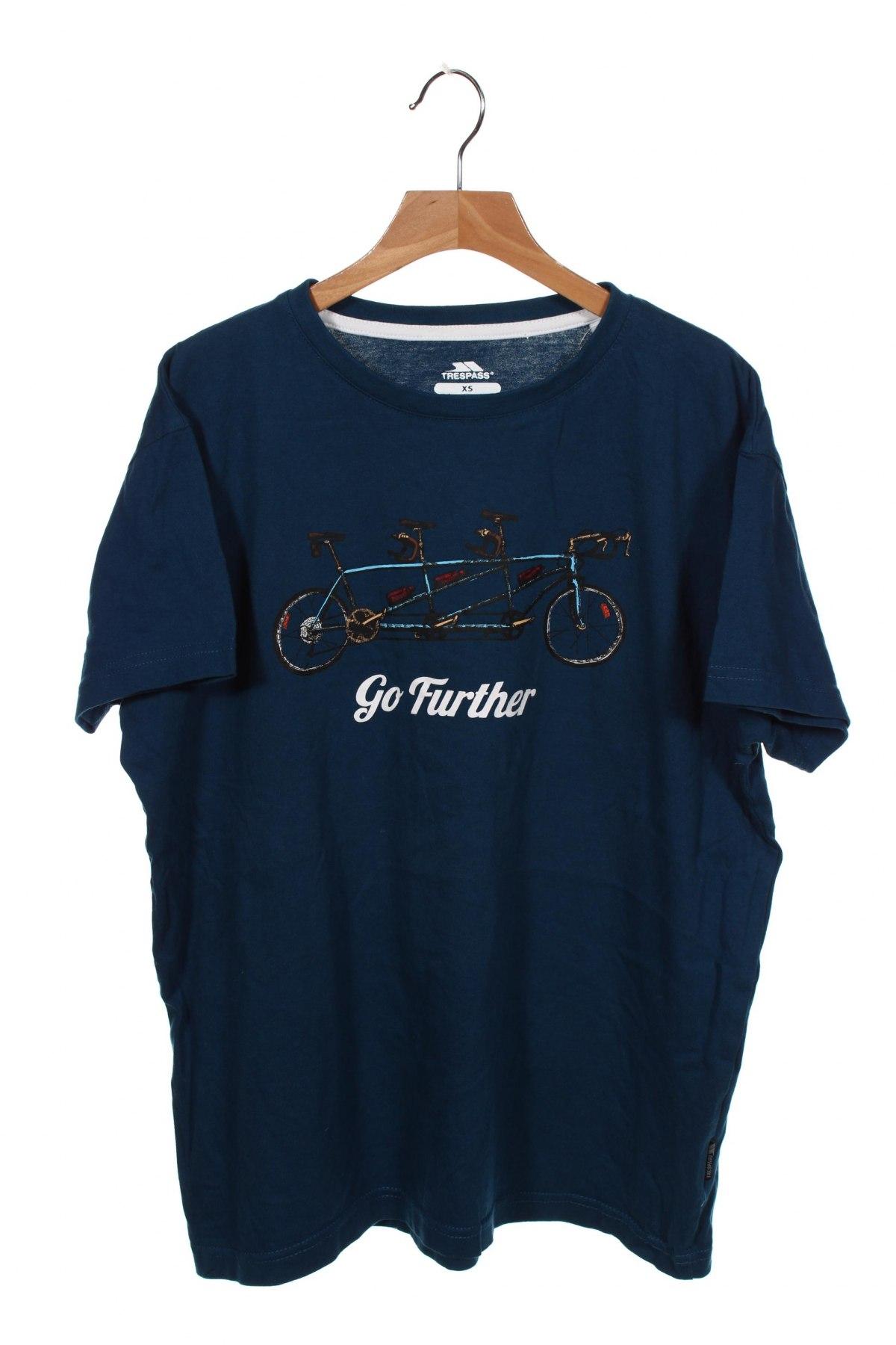 Мъжка тениска Trespass, Размер XS, Цвят Син, Памук, Цена 20,88лв.