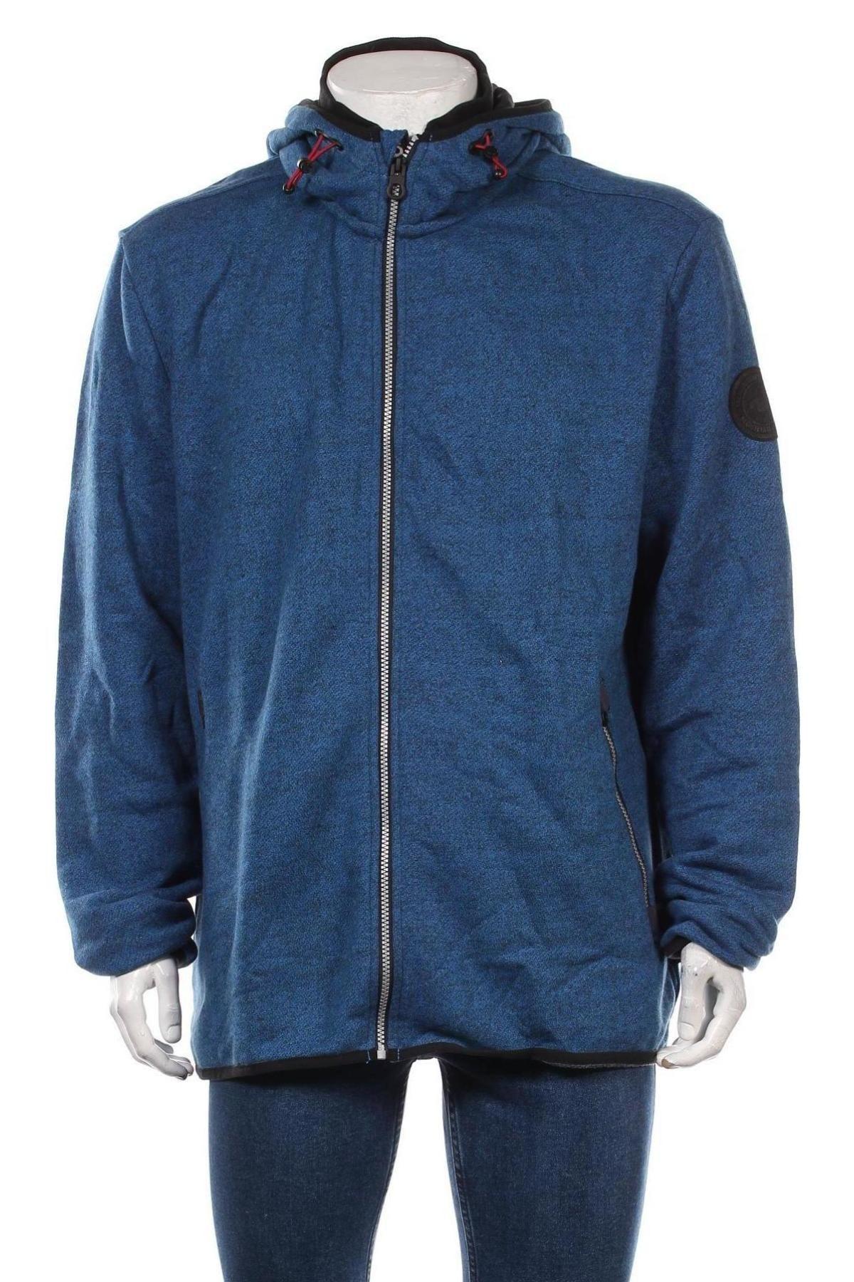 Мъжки суичър Tom Tailor, Размер 3XL, Цвят Син, 70% памук, 30% полиестер, Цена 59,25лв.