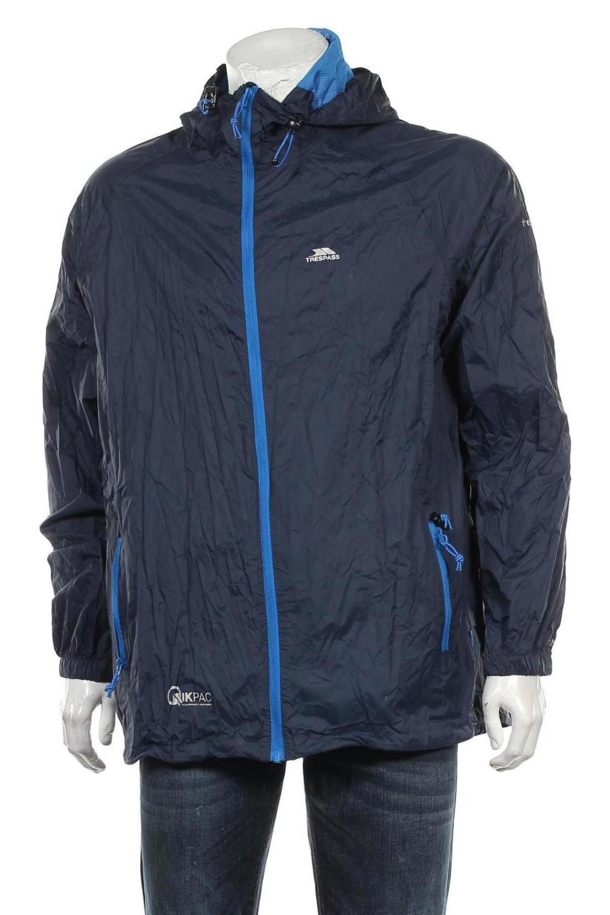 Мъжко спортно яке Trespass, Размер XL, Цвят Син, Полиамид, Цена 64,66лв.