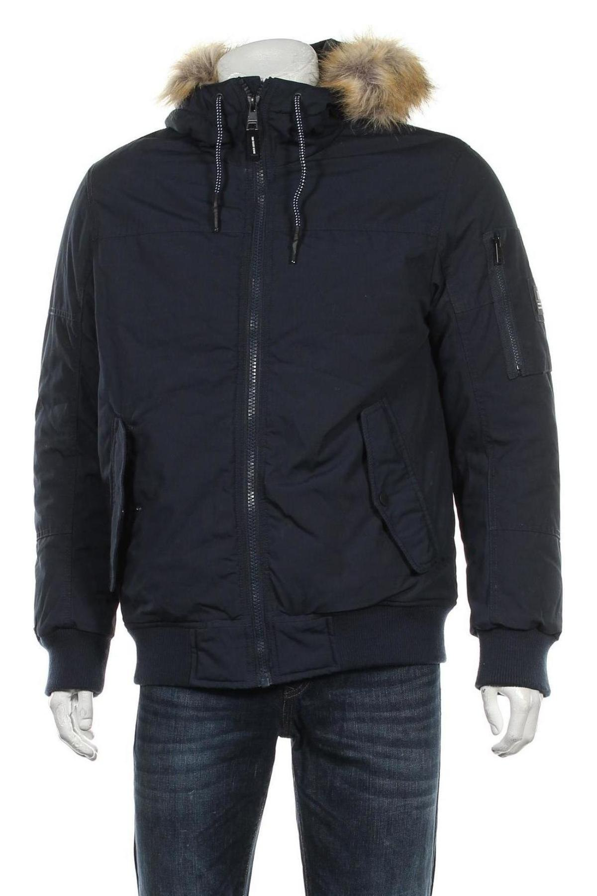 Мъжко яке Tom Tailor, Размер M, Цвят Син, 65% полиестер, 35% памук, Цена 98,55лв.