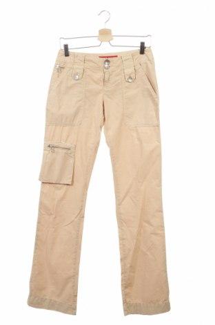 Дамски панталон Miss Sixty, Размер XS, Цвят Бежов, Памук, Цена 23,37лв.