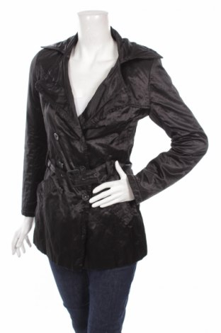 Дамски шлифер Franco Ferucci, Размер S, Цвят Черен, Памук, Цена 16,00лв.