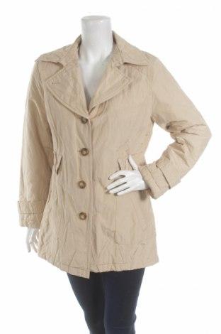 Дамски шлифер Ks, Размер M, Цвят Бежов, 55% памук, 41% полиестер, 4% метални нишки, Цена 19,00лв.