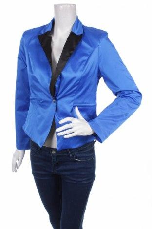 Дамско сако Eksept, Размер M, Цвят Син, 53% полиестер, 44% памук, 3% еластан, Цена 7,26лв.