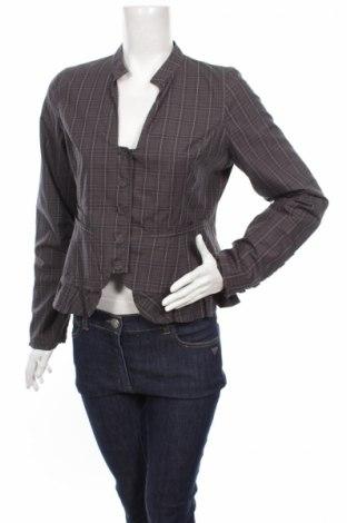 Γυναικείο σακάκι Oxmo, Μέγεθος L, Χρώμα Γκρί, Βαμβάκι, Τιμή 3,61€