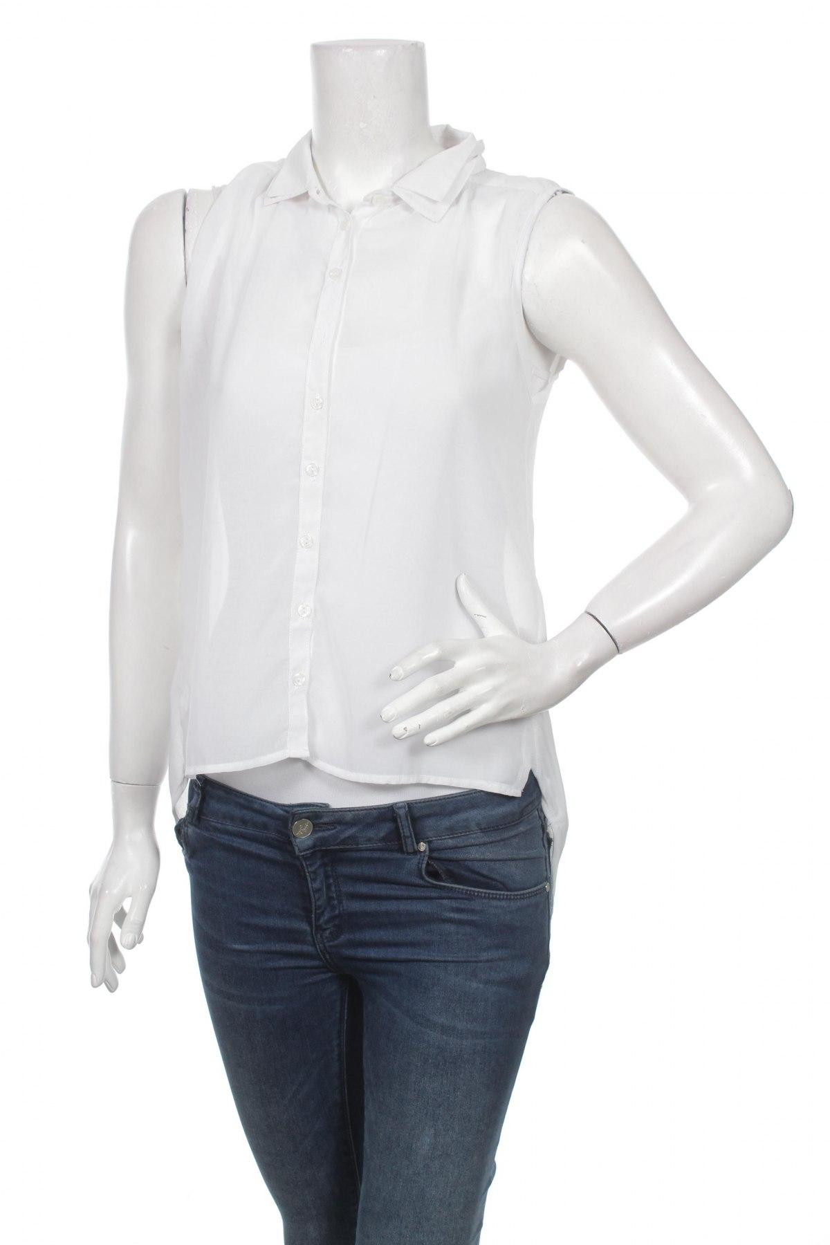 Дамска риза Moodo, Размер M, Цвят Бял, Полиестер, Цена 16,96лв.