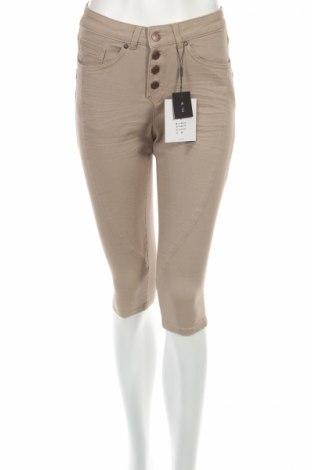 Γυναικείο κοντό παντελόνι Object, Μέγεθος XS, Χρώμα  Μπέζ, 98% βαμβάκι, 2% ελαστάνη, Τιμή 12,61€