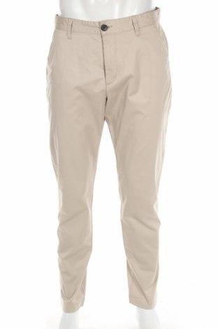Ανδρικό παντελόνι Selected Homme, Μέγεθος M, Χρώμα  Μπέζ, 98% βαμβάκι, 2% ελαστάνη, Τιμή 11,38€