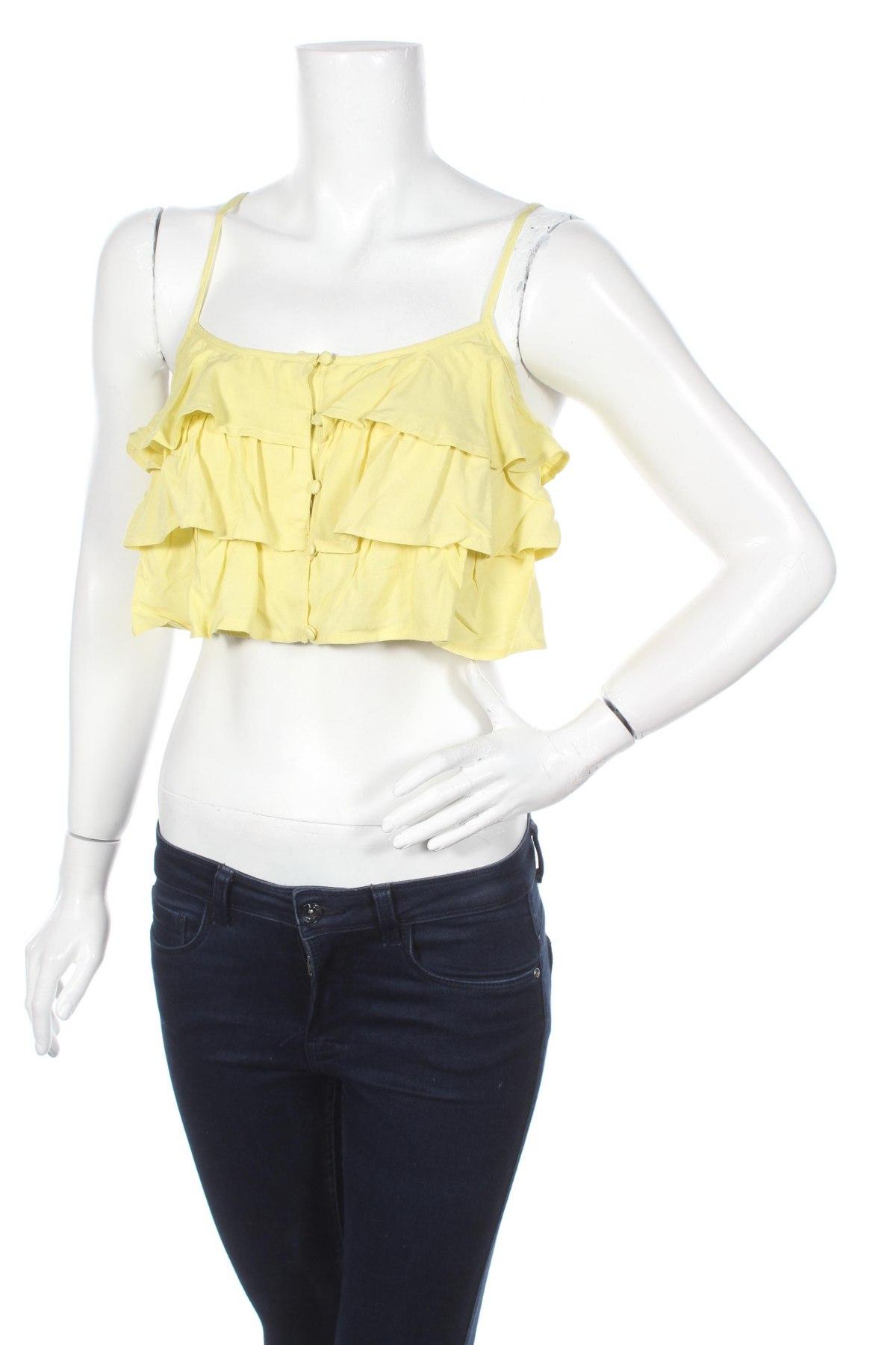 Дамска риза Twentyfourseven, Размер S, Цвят Жълт, Вискоза, Цена 20,67лв.