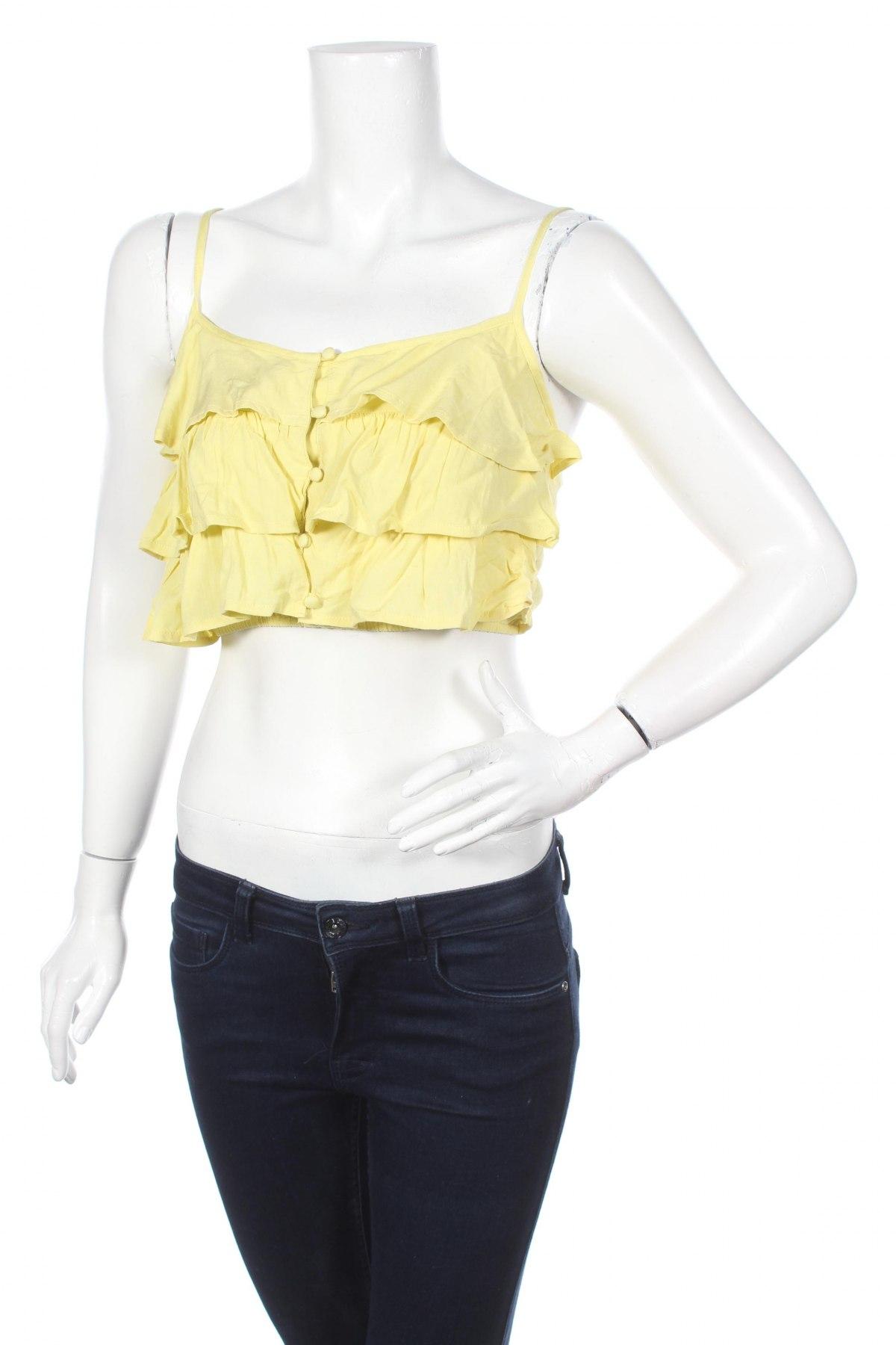 Дамска риза Twentyfourseven, Размер XS, Цвят Жълт, Вискоза, Цена 20,67лв.