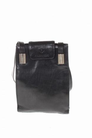 Чанта Claudio Ferrici, Цвят Черен, Естествена кожа, Цена 55,90лв.