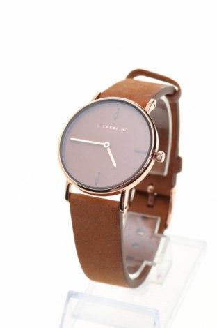 Часовник Liebeskind, Цвят Кафяв, Метал, естествена кожа, Цена 254,25лв.