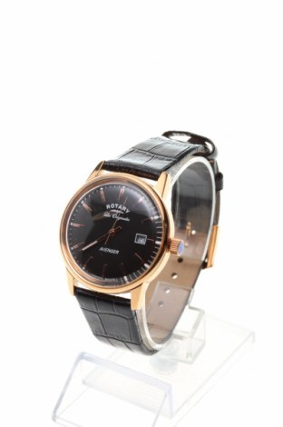 Часовник Rotary Watches, Цвят Черен, Естествена кожа, метал, Цена 227,60лв.