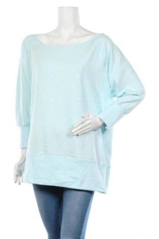 Дамска блуза Active By Tchibo, Размер L, Цвят Син, 63% полиестер, 32% вискоза, 5% еластан, Цена 8,66лв.