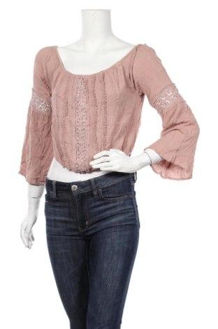 Дамска блуза Charlotte Russe, Размер L, Цвят Пепел от рози, Вискоза, Цена 8,93лв.