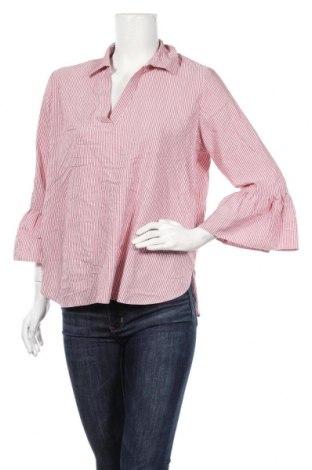 Дамска блуза Clockhouse, Размер XL, Цвят Розов, 59% вискоза, 38% полиестер, 2% метални нишки, 1% полиамид, Цена 9,45лв.