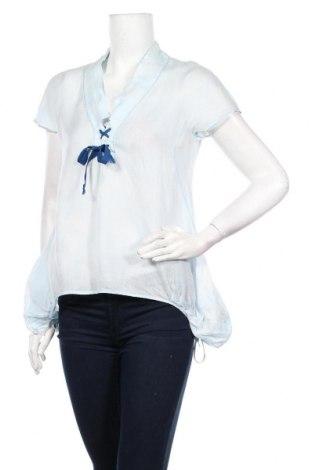 Дамска блуза Le Jean De Marithe+Francois Girbaud, Размер M, Цвят Син, 100% рамия, Цена 48,00лв.