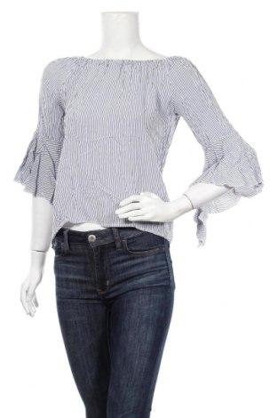 Дамска блуза Made In Italy, Размер M, Цвят Син, 95% памук, 5% еластан, Цена 8,58лв.