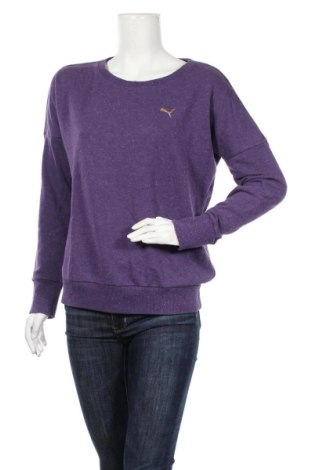 Дамска блуза PUMA, Размер L, Цвят Лилав, 68% памук, 32% полиестер, Цена 28,56лв.