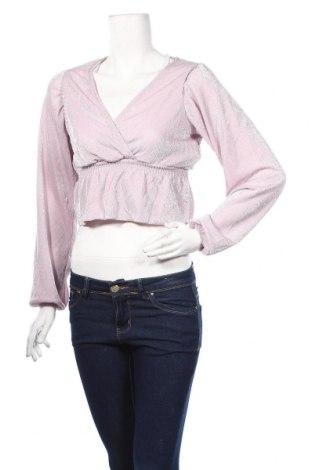 Дамска блуза Pull&Bear, Размер S, Цвят Розов, 85% полиамид, 15% метални нишки, Цена 26,93лв.