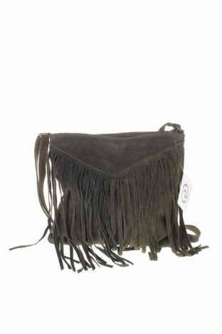 Дамска чанта, Цвят Зелен, Естествен велур, Цена 39,90лв.
