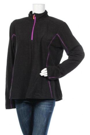 Дамска поларена блуза H&M Sport, Размер XL, Цвят Черен, Полиестер, Цена 14,28лв.