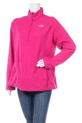 Дамска поларена блуза The North Face, Размер XL, Цвят Розов, 100% полиестер, Цена 39,69лв.