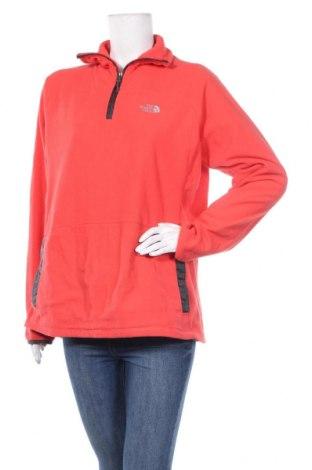 Дамска поларена блуза The North Face, Размер XL, Цвят Оранжев, 100% полиестер, Цена 39,69лв.