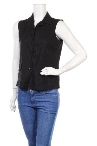 Дамска риза Joella Di Marco, Размер M, Цвят Черен, 55% лен, 45% вискоза, Цена 11,44лв.