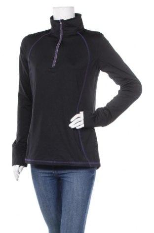 Дамска спортна блуза, Размер L, Цвят Черен, Полиестер, Цена 9,45лв.