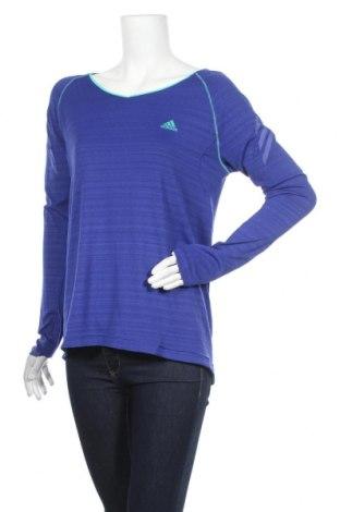 Дамска спортна блуза Adidas, Размер L, Цвят Син, Цена 20,79лв.